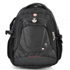 SWISSKING SK9323S Anti-Shock Polyester Backpack for 15'' Laptops / Tablets - Black