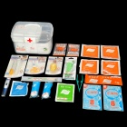 Cror JE-S-016A Professional Home Children's Care 15-in-1 First Aid Case - Transparent