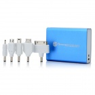 SWPKPOWER SW-A44920 0,6'' LED Display tragbare 5200mAh External Battery w / 5 Adapter - Blue