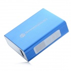 SWPKPOWER SW-A44920 0.6'' LED Display Portable 5200mAh External Battery w/ 5 Adapters - Blue