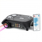 TS-3680 Portable DVD Home Theater Projector w/ SD / Speaker - Black + Silver