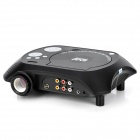 TS-3680 DVD Home Theater Projector Portable w / SD / Président - Silver Black +