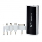 SWPKPOWER SW-B66920 Portable 7800mAh External Battery w/ 5 Adapters for iPhone 4S / Samsung - Black
