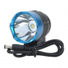 SingFire SF-90 800lm White 4-Mode Crown Head Bicycle Headlamp - Black + Blue (4x18650)