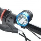SingFire SF-90 Cree XM-L T6 800lm White 4-Mode Crown Head Bicycle Headlamp - Black + Blue (4x18650)