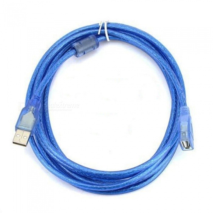 USB 2.0 Male to Female Extension Cable - Blue (5m)