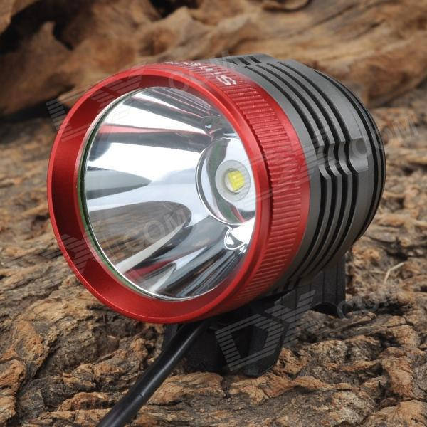 SingFire SF-90 800lm White 4-Mode Bicycle Headlamp - Black + Red (4 x 18650)