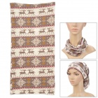 6032314 Fashionable Pattern Multi-Functional Outdoor Cycling Seamless Head Scarf - Beige + Brown