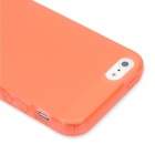 Hotsion i5-05 Protective Silicone Back Cover Case for Iphone 5 - Translucent Bright Orange