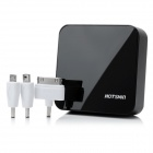 Hotsion V3 Cube Design 0.7'' LED 6600mAh External Emergency Power Charger for iPhone 5 - Black