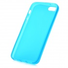 Hotsion i5-05 Protective Silicone Back Cover Case for Iphone 5 - Translucent Cyan