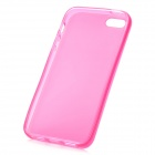 Hotsion i5-05 Protective Silicone Back Cover Case for iPhone 5 - Translucent Pink