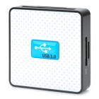 HD-58 USB 3.0 SD / TF / CF / MS / M2 / XD Card Reader - White + Blue + Black