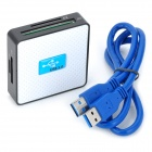 HD-58 USB 3.0 SD / TF / CF / MS / M2 / XD Card Reader - белый + синий + черный