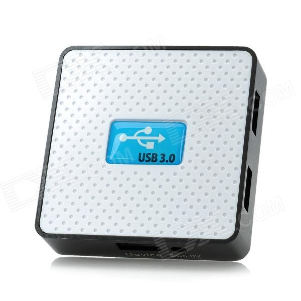 Super Speed ​​USB 3.0 de 4 puertos HUB - Blanco + Azul + Negro