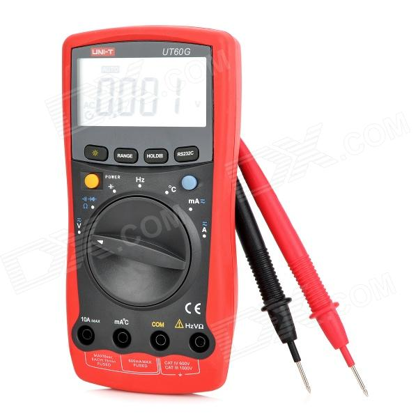 UNI-T UT60G 2.3 LCD Digital Multimeter - Red + Deep Grey uni t ut60g 2 3 lcd digital multimeter red deep grey