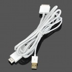 Apple 30-Pin Male to HDMI Male + USB Male Adapter Cable - White (1.8M)