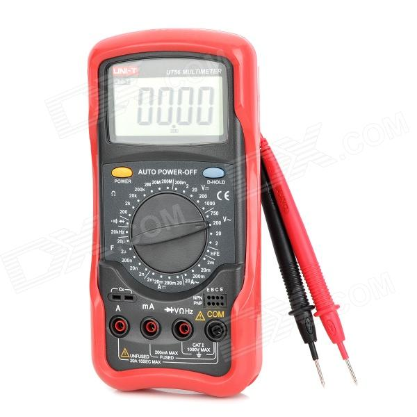 UNI-T UT56 2.3 LCD Digital Multimeter - Red + Deep Grey spot goods antminer s5 1155 gh s asic miner bitcon miner 28nm btc mining sha 256 miner power consumption 590w