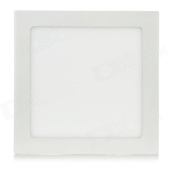 18W 1600lm 3500K Warm White 90-SMD 2835 LED Square Panel Light Lamp - White (90~265V) 18w 3500k 1480lm 90 smd 2835 led warm white ceiling light w driver white ac 90 265v