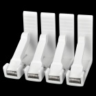 Table Cover Tablecloth Spring Loaded Clamp Holder Clip - White (4 PCS)