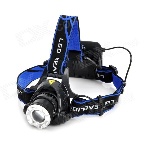 3-Mode 600lm White Zooming Headlamp - Black (4 x AA)