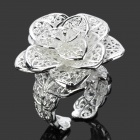 3-Layer Flower Shaped Fashion Lady's Copper Ring - Silver