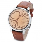 SKONE 89162 Fashion Lady's PU Band Quartz Analog Waterproof Wrist Watch - Brown (1 x 377)