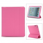 Universal Protective PU Smart Cover for iPad 2 - Deep Pink