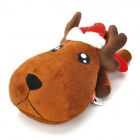 Christmas Deer Plush + PP Cotton + Bamboo Charcoal Bag Toy- Chocolate Brown + Red + White