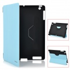 Kingsons KS3033U Protective Smart Leather Cover for iPad2 and the New iPad - Blue + Black