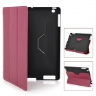 Kingsons KS3033U Protective Smart Leather Cover for iPad2 and the New iPad - Deep Pink + Black