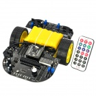 DIY Microcontroller IR Remote Control Intelligent Tracing Robotic Vehicle Kit - Black