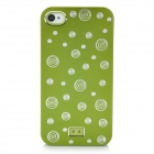 Lovely Circles Pattern Protective Plastic Back Case for Iphone 4 - Grass Green