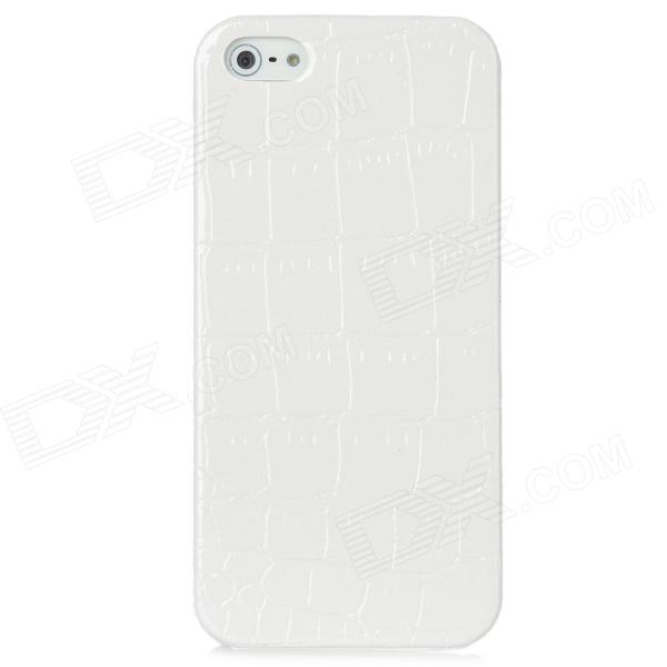 Crocodile Skin Style Protective Back Case for Iphone 5 - White crocodile print style cover case for iphone 6s