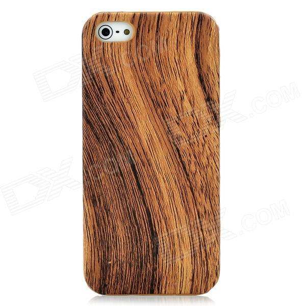 Wood Style Protective Plastic Back Case for Iphone 5 - Brown