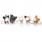 Cute Kat Cat Toy w/ Rotating Head Keychain - Black + White + Brown + Orange (5 PCS)