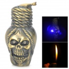 LED Eyes Skull Head Style Gas Lighter - Bronze