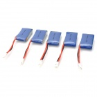9imod Replacement 3.7V 280mAh Li-Po Battery for Genius CP / Mini CP / Ladybird - Blue (5 PCS)