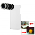 6X Zoom Optical Camera Lens Telescope for Iphone 5 w/ Protective Back Case - Silver