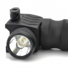 21mm Grip Tactical w / 230lm LED de luz blanca de la linterna - Negro (2 x 16340)