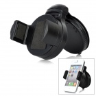 3-in-1 360 Degrees Rotation Car Windshield Swivel Mount Set for iPhone 4 / 4S - Black + White