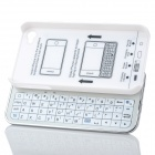 WELLSN 50-Key Wireless Bluetooth V2.0 Keyboard w/ Back Holder for Iphone 4 / 4S - White + Silver