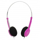 Stylish Headphone w/ Microphone for iPhone / iPad / Cell Phone / PC - Deep Pink (3.5mm Plug)