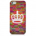 Crown Pattern Protective Plastic Back Case w/ Screen Protector for Iphone 5 - Multicolor