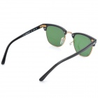 OREKA WG010-901 Retro Cellulose Acetate Frame Sunglasses - Black