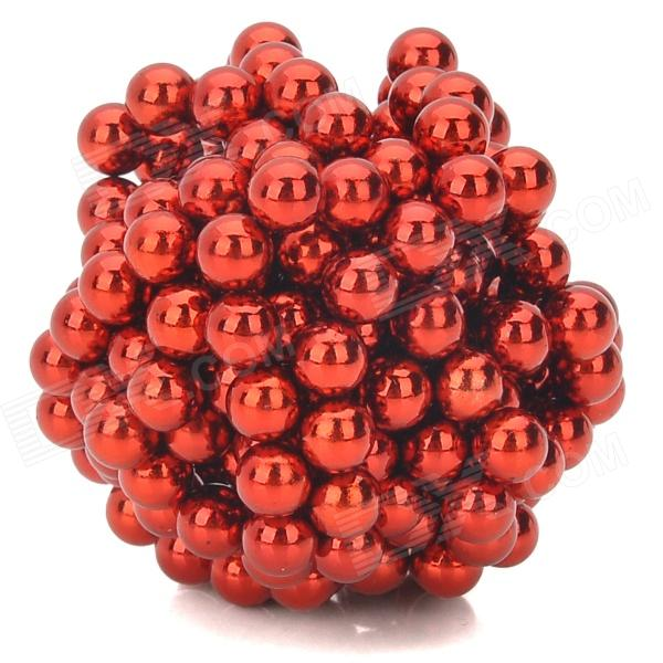 5mm Neodymium Magnet Sphere DIY Puzzle Set - Red (216 PCS) cheerlink zm 81 3mm neodymium iron diy educational toys set silver 81 pcs