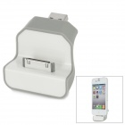 Mini USB Charging Docking Station for iPhone 3G / 3GS / 4 / 4S / iPod - Grey + White