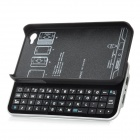 WELLSN 50-Key Wireless Bluetooth V2.0 Keyboard w/ Back Holder for iPhone 4 / 4S - Black + Silver