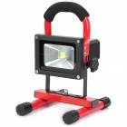 Rechargeable Portable 10W 800~900lm 6000k LED White Light Flood Lamp - Red (110~240V / DC 12V / 24V)