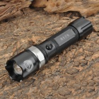 Small Sun ZY-A638 240lm 3-Mode White Zooming Flashlight - Black + Dark Grey (1 x 18650)